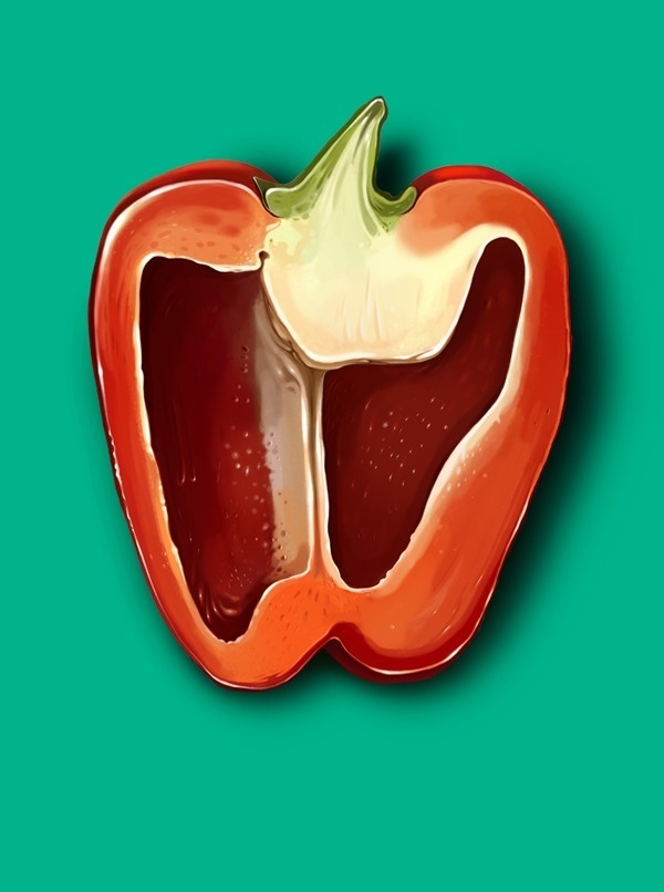 i love ingram #pepper #red #food #illustration #pantone #green