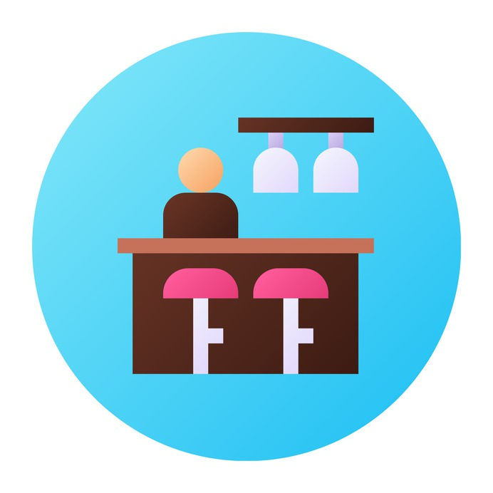 See more icon inspiration related to waiter, bunting, food and restaurant, alcoholic drinks, pub, pint, cheers, worker, professional, user, beer, mug, alcohol, bar, bottle and drink on Flaticon.