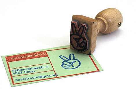 marcus kraft: bastelraum 6001 #card #stamp #rubber #business