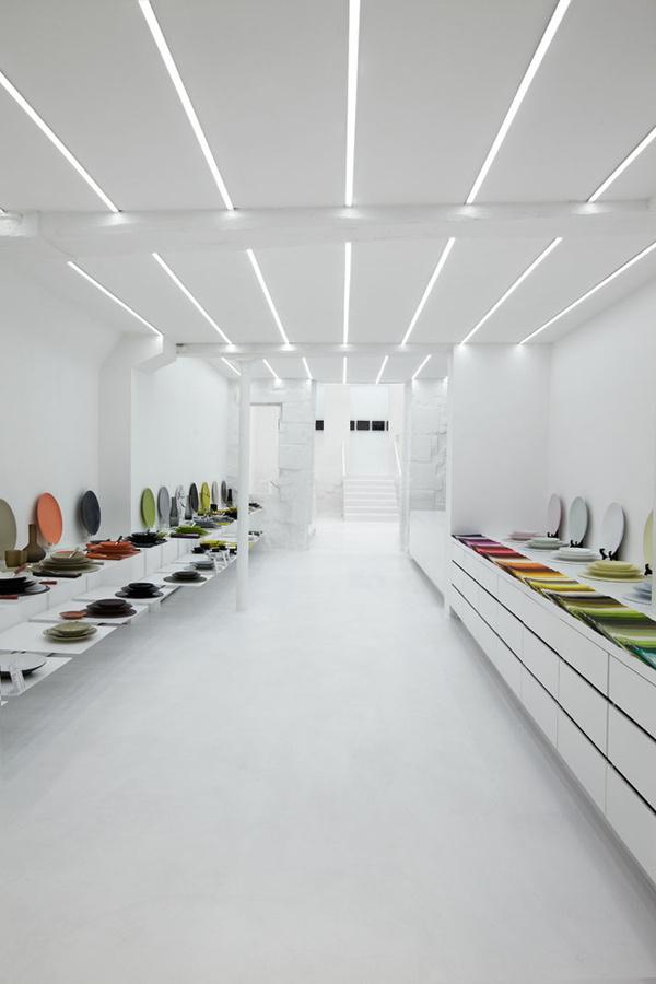 Muriel Grateau Gallery, Paris store design #abstract #white #design #colours #store