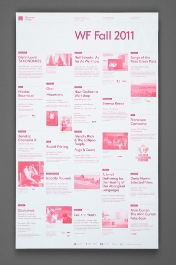 Western Front Fall Calendar : Post Projects #post #projects