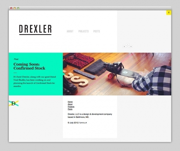 Websites We Love — Drexler #layout #design #web #webdesign
