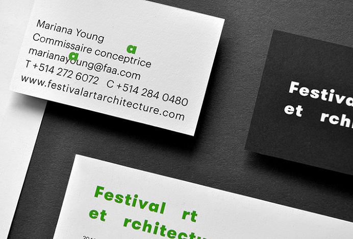 Festival art et architecture by Samuel Larocque #graphic design #print #business card