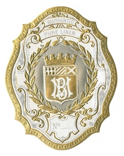 All sizes | Antique French Perfume Label | Flickr - Photo Sharing! #badge #seal #monogram #type #typography