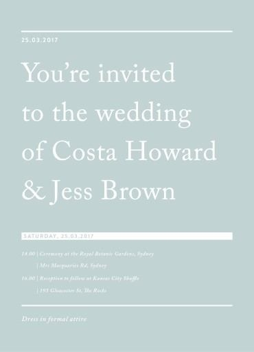 Cos - Wedding Invitations #paperlust #weddinginvitation #weddinginspiration #design #paper #card #print #digitalcards