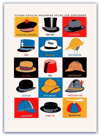General Pattern — Hats #james #illustration #hats #brown