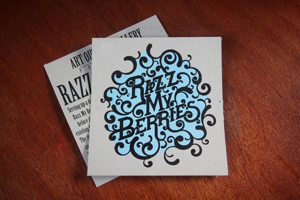 Razz My Berries #logo #print #design #flyer