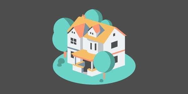 House without a Home #flat #vector #house #design #illustration #building