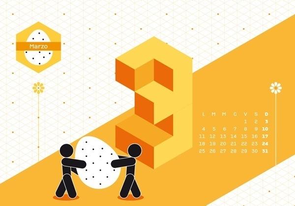 Calendario Algoritmo 2013 by o-zone , via Behance #vectors #illustration #vector #illustrated