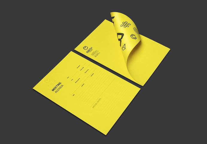 Letter Head #logotype #stationary #yellow #head #letter #brand #identity #bratus