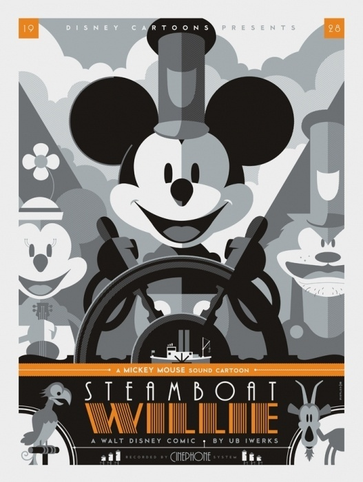 Justin's Top 10 (or 11) Posters of 2011!   Mondo: The Blog #steamboat #mikey #mouse #illistration #cartel