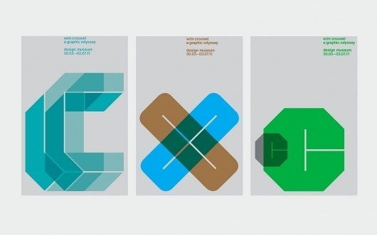 Spin x Design Museum: Wim Crouwel Posters / Collate #grid #poster #crouwell