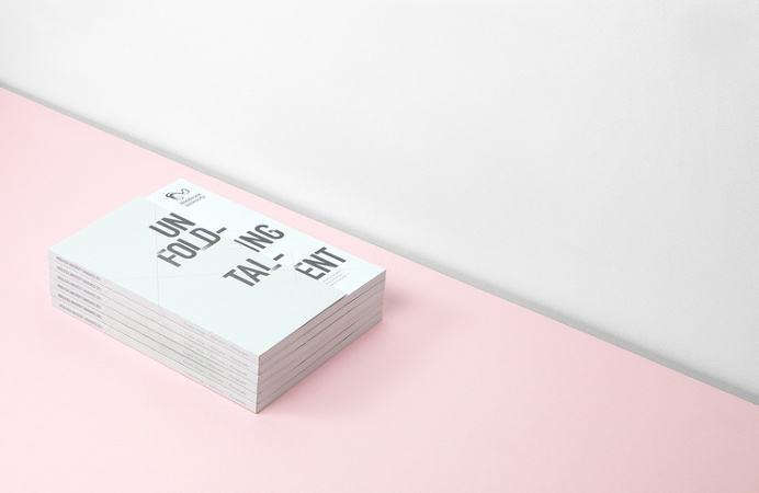 All Works Co. Unfolding Talent #print #allworksco #graphicdesign #london #minimal #art #brochure #format #catalogue