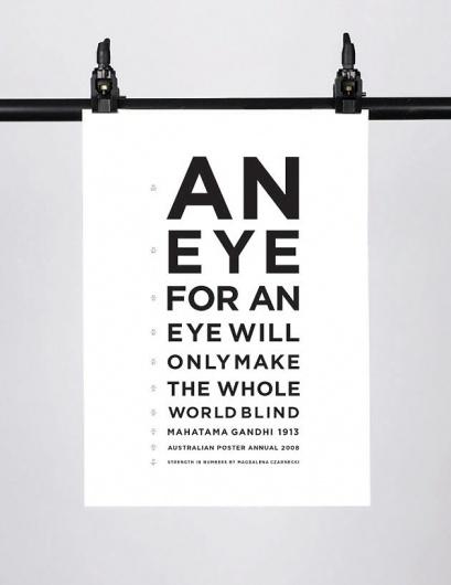 Posters – Magdalena Czarnecki #print #typography #poster #gandhi #magdelena czarnecki