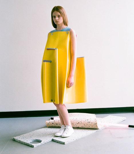 Valeska Valentina Jasso Collado Westminster graduate collection #fashion #colour #geometric #latex