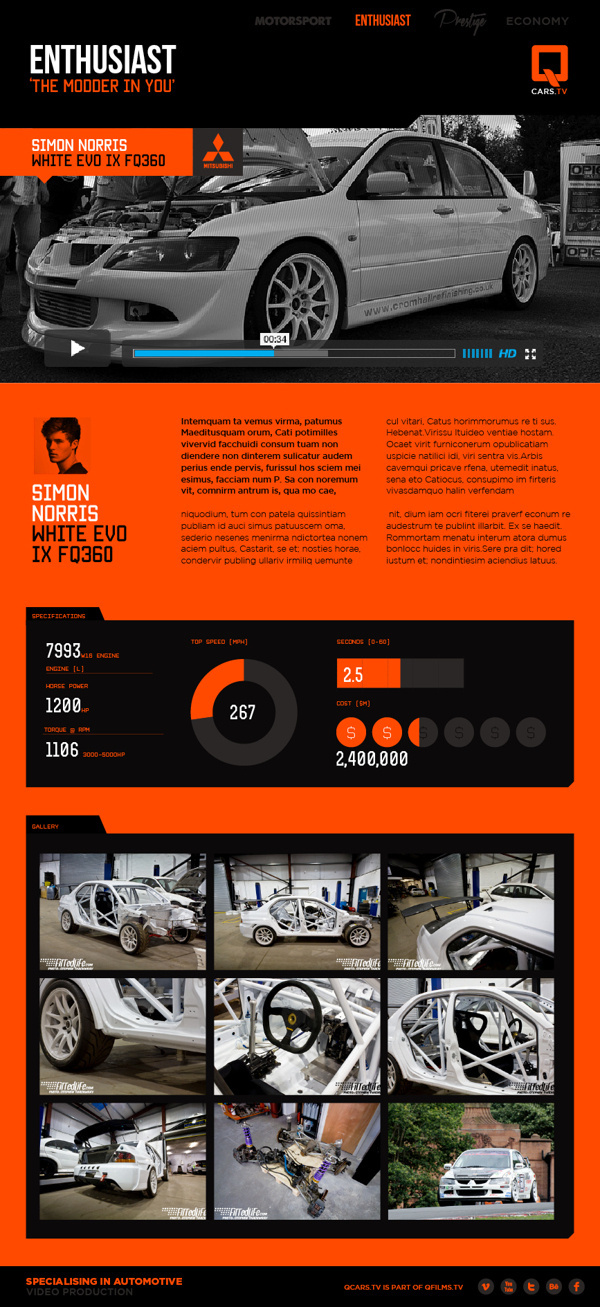 QCARS.TV Concept work on Behance #charts #branding #graphics #automotive #infographics #london #website #info #data #identity #film #logo #web