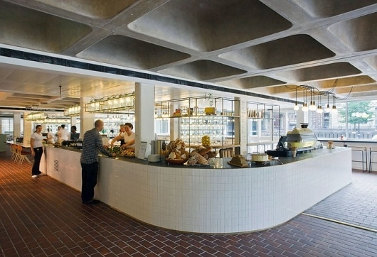 SHH lead all-star cast in design of Barbican Foodhall and Lounge   Yatzer #market #interiors #roof #architecture #tile