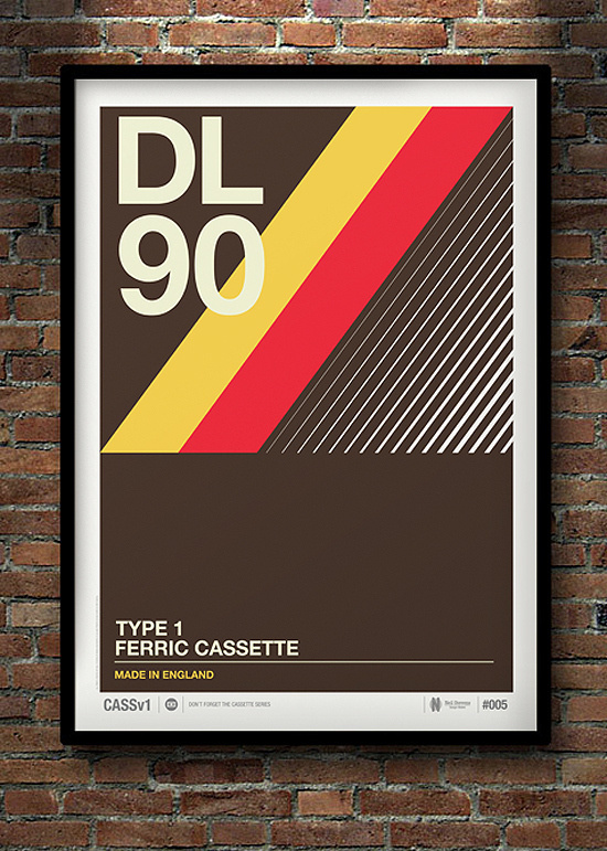 Don't Forget the Cassette: Posters by Neil Stevens | Inspiration Grid | Design Inspiration #flat #print #design #clean #vintage #poster