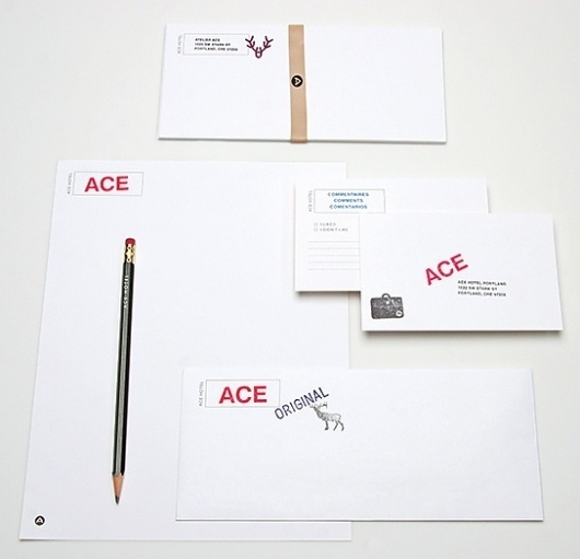 The Official Manufacturing Company / Work / Ace Hotel / Collateral #stamp #branding #ace #hotel #omfg