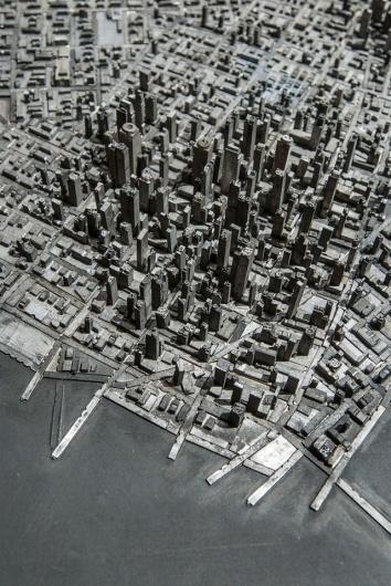 A Miniature City Built with Metal Typography | Colossal #metal type #printing press #mini city #hong seon jang