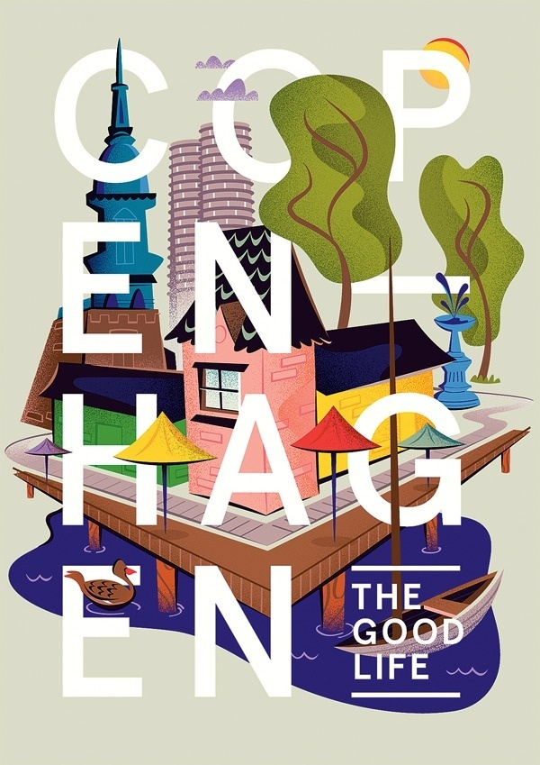 Copenhagen: The Good Life - Matt Chase | Design, Illustration #illustration #editorial