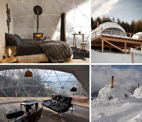 Lightweight Living: Global 4-Season Geodesic Dome Homes   Designs & Ideas on Dornob #dome #geodesic #season #homes