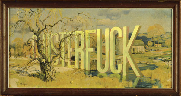 Wayne White : Word Paintings #lettering #white #contemporary #wayne #art #painting #typography