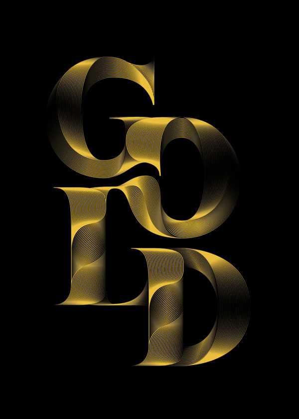 Typography inspiration #gold #type #art #digital