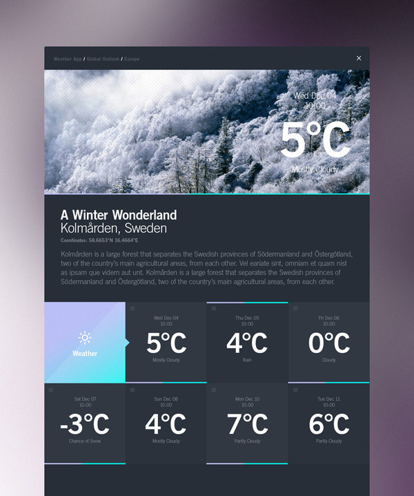 STUDIOJQ2013_DASHBOARD_WWL #information #weather #ux #infographic #design #ui #type
