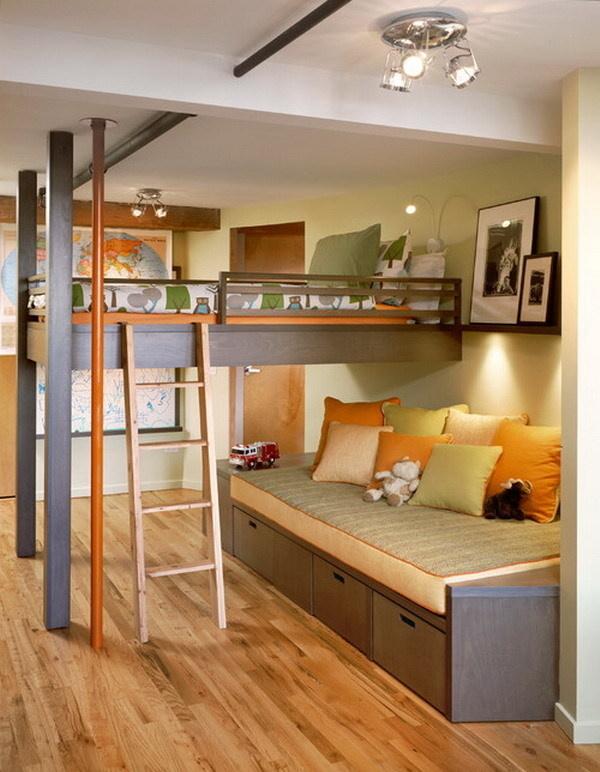 30+ Beautiful Bunk Room Ideas for Kids #bunk room #kids #bedroom