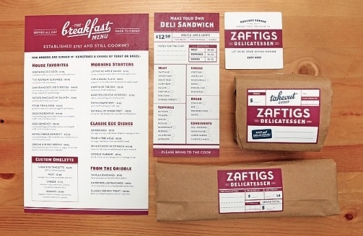 Zaftigs Delicatessen - CommonerInc #color #retro #label #restaurant #one
