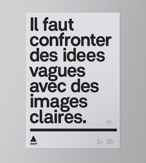 Poster - avant™ #poster #typography