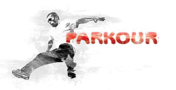 Parkour in Mekka #design #graphic #illustration #grunge #sport #parkour