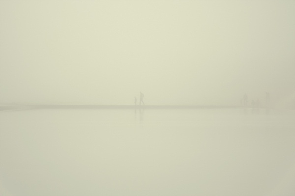 Swimming in Milk on the Behance Network #white #fog #cold #people #winter