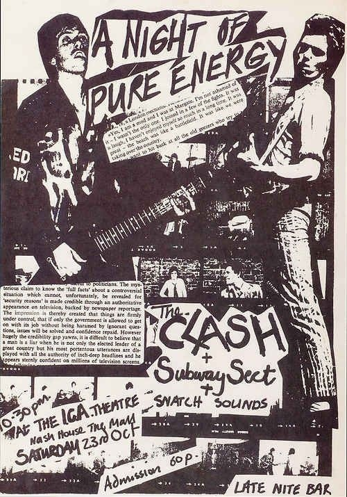 The Clash #gig #clash #poster #the