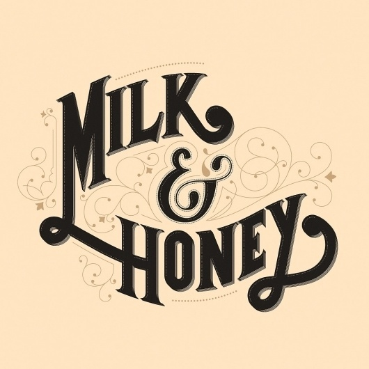 The Phraseology Project #inspiration #lettering #filigree #design #nice #honey #milk #type #typography