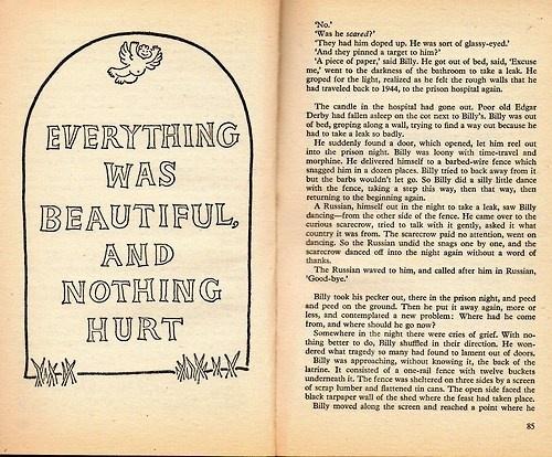 Kurt Vonnegut: Slaughterhouse Five #lettering #kurt #literature #vonnegut #book #publication #slaughterhouse #five #typography