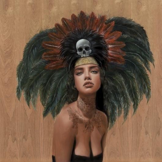 feathers & skulls Art Print by Charmaine Olivia | Society6 #feathers #olivia #skulls #art #and #charmaine