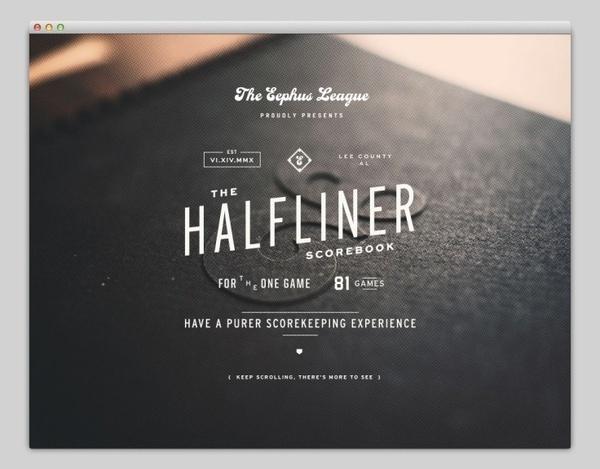 Halfliner #handcrafted #design #graphic #type #typography