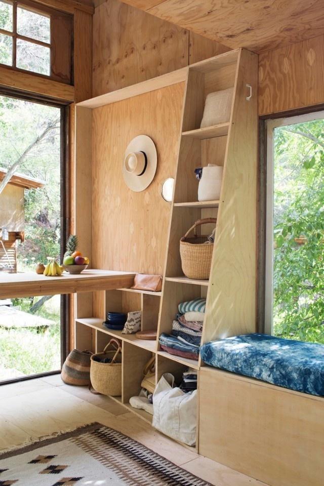 Cabin in Topanga8 #interior #design #decor #wood #architecture #deco #cabin #decoration