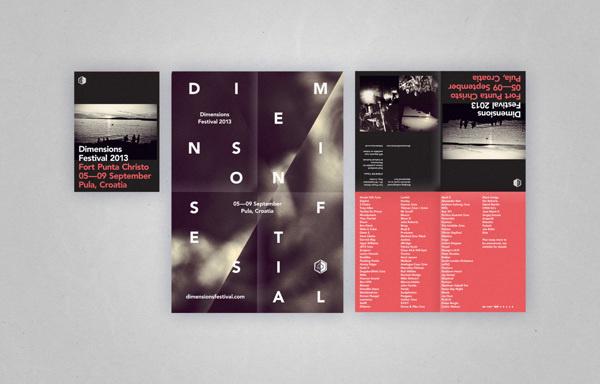 Dimensions Festival 2013 on Behance #type #print