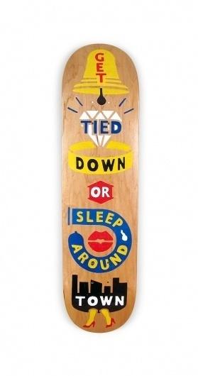 Painted Decks #folk #skateboard #wood #skate #handmade #art #type #typography