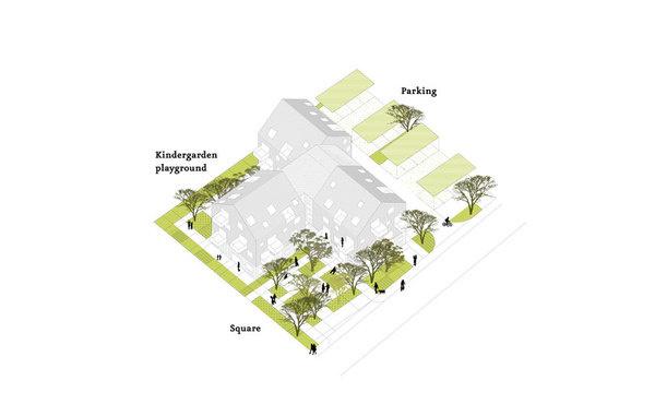 Wild Strawberries, Intergenerational Center at Gland, Switzerland / Microcities #architecture #drawing