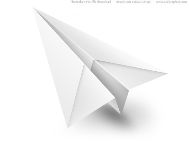 White paper airplane psd icon Free Psd. See more inspiration related to Icon, Paper, Airplane, Web, White, Psd, Web icons, Paper airplane, Horizontal, Objects and Isolated on Freepik.