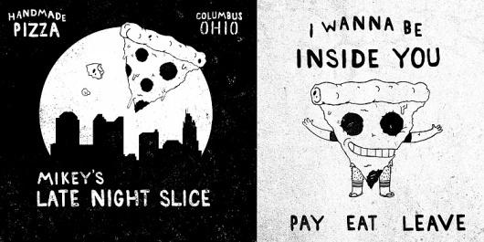 Patrick Moore - DESIGN #type #illustration #food #pizza