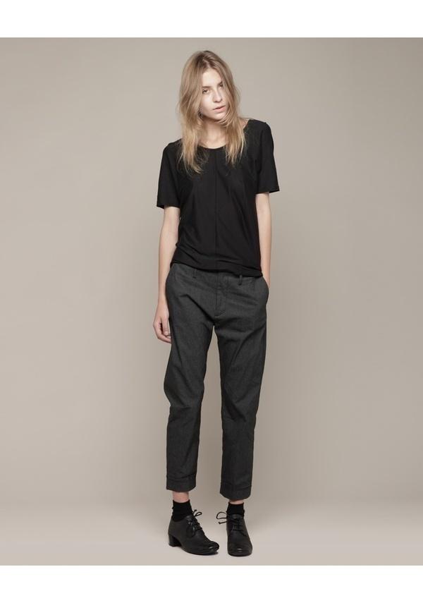 Hope / Drape Tee & Trouser + Marsèll / Patent Back Lace Up #fashion #women