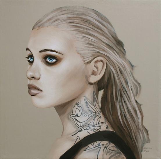 Richard Salcido #woman #illustrator #paint #illustration #tattoo