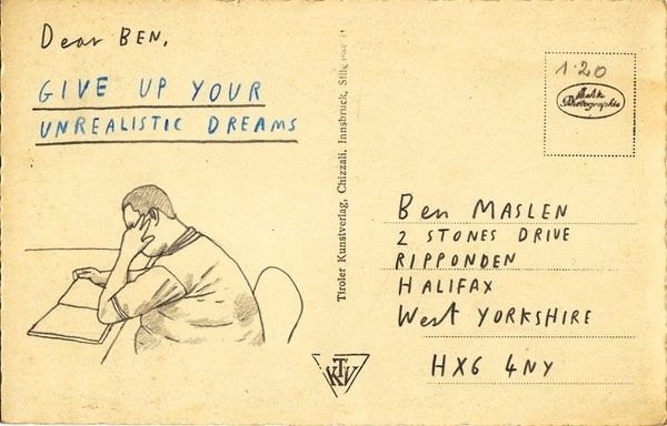Hate Mail : Das Monk Independent Artist Collective #illustration #postcard #dreams #message