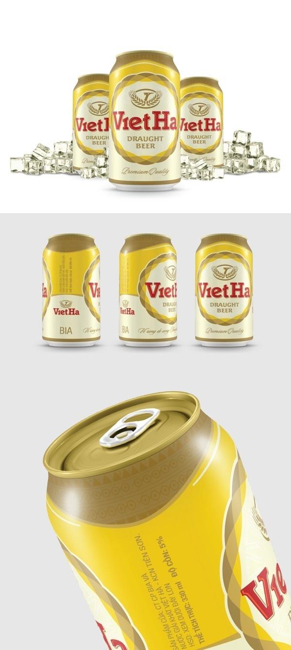 VietHa Beer packaging design #brewery #beer #vietnam #packaging #design #can
