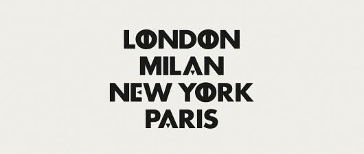 M—B Type & Design #paris #london #typography #york #milan #new